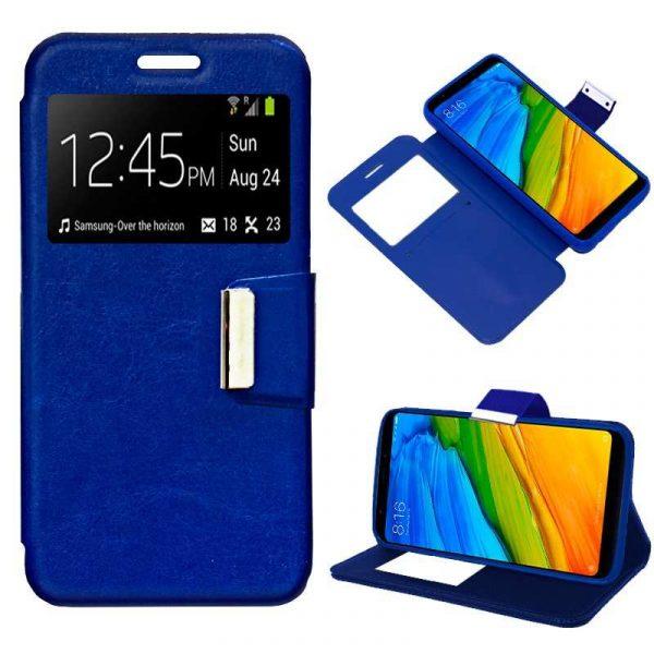 Funda Flip Cover Xiaomi Redmi 5 Liso Azul 1