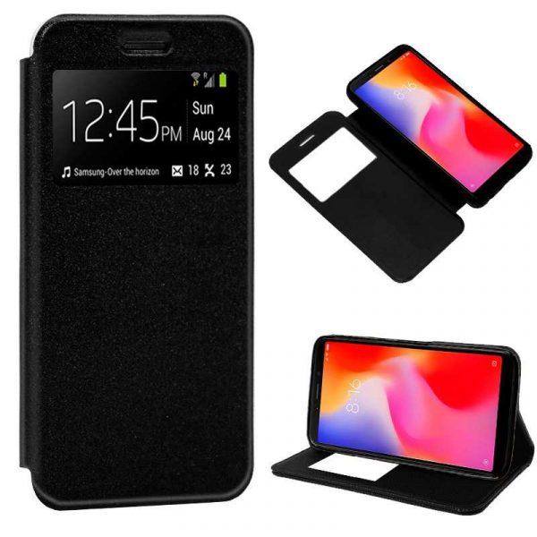 Funda Flip Cover Xiaomi Redmi 6 / 6A Liso Negro 1