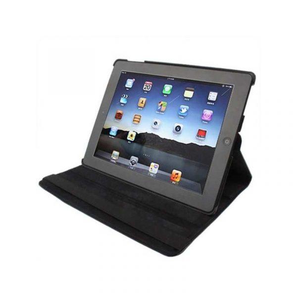 Funda iPad 2 / iPad 3 / 4 Giratoria Polipiel color Negro (Soporte) 2