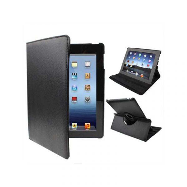 Funda iPad 2 / iPad 3 / 4 Giratoria Polipiel color Negro (Soporte) 1