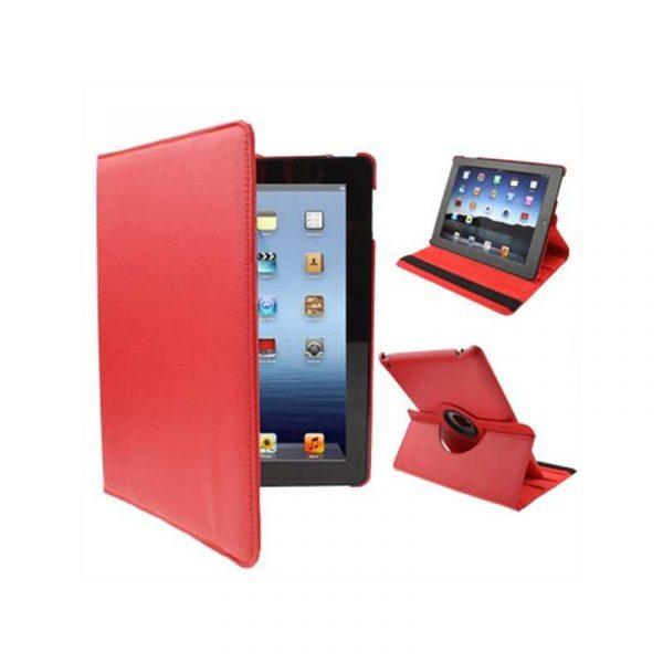 funda ipad 2 ipad 3 4 giratoria polipiel color rojo soporte