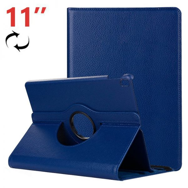 funda ipad pro 11 pulg giratoria polipiel azul 2