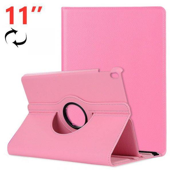 funda ipad pro 11 pulg giratoria polipiel rosa 2