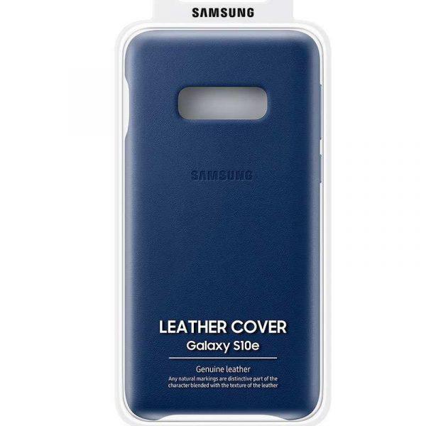 funda original samsung g970 galaxy s10e blue trasera leather con blister