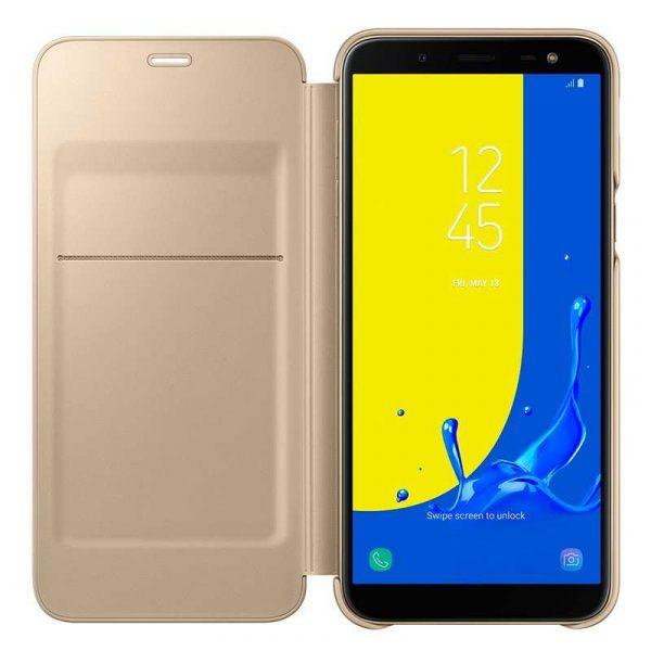 Funda Original Samsung J600 Galaxy J6 Wallet Dorado (Con Blister) 2