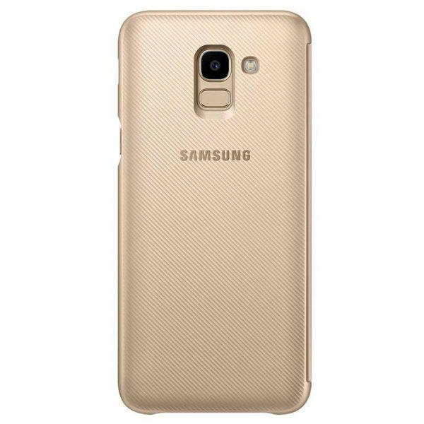 Funda Original Samsung J600 Galaxy J6 Wallet Dorado (Con Blister) 1