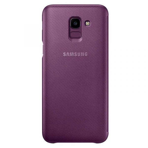 funda original samsung j600 galaxy j6 wallet violeta con blister