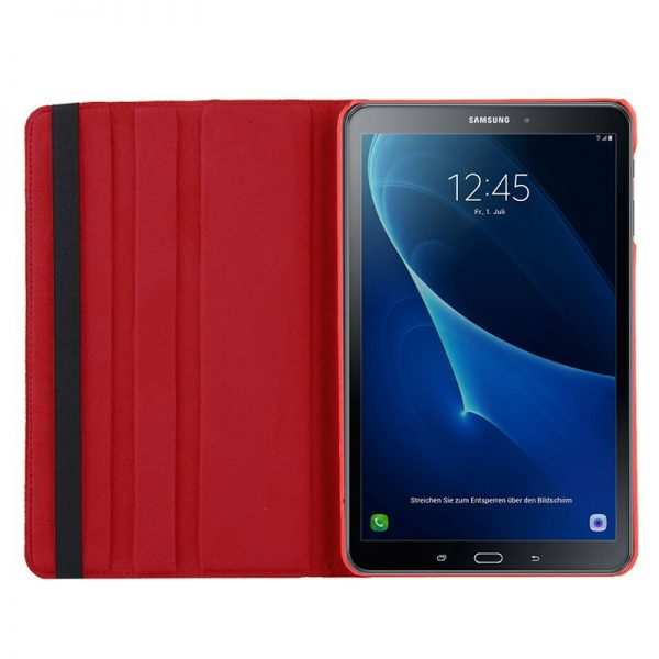 Funda Samsung Galaxy Tab A (2016 / 2018) T580 / T585 Polipiel Liso Rojo 10.1 pulg 1