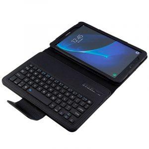 funda samsung galaxy tab a 2016 2018 t580 t585 polipiel teclado bluetooth 101 pulg3