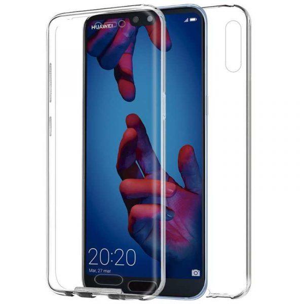 Funda Silicona 3D Huawei P20 (Transparente Frontal + Trasera) 1