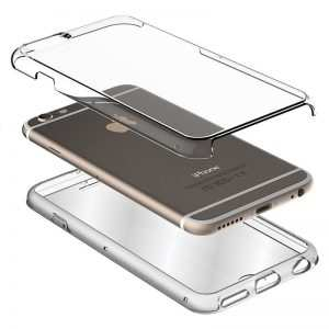 funda silicona 3d iphone xr transparente frontal trasera 1