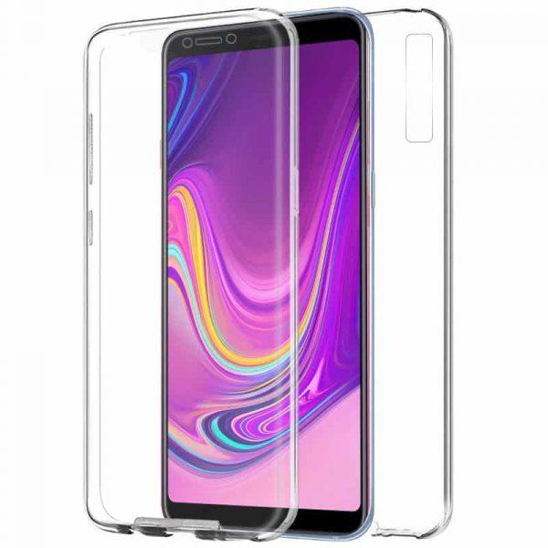 funda silicona 3d samsung a920 galaxy a9 2018 transparente frontal trasera 1