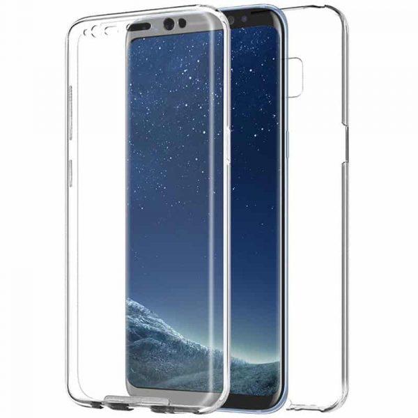 funda silicona 3d samsung g955 galaxy s8 plus transparente frontal trasera 1