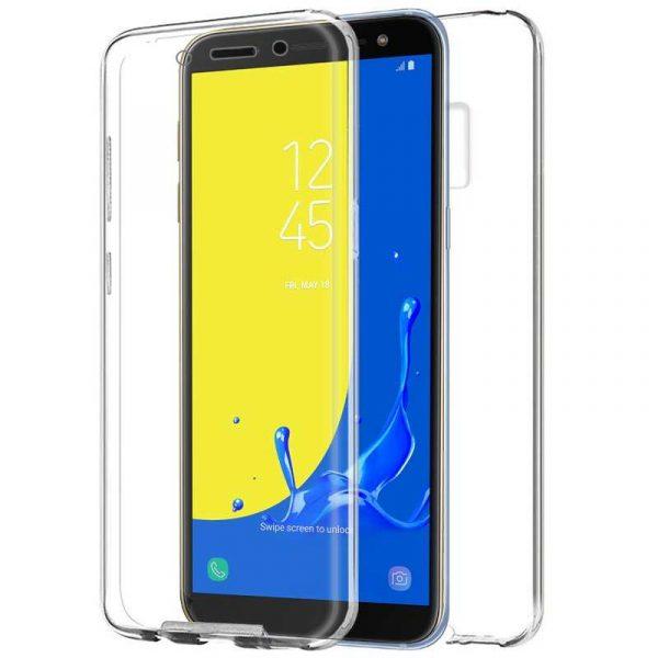Funda Silicona 3D Samsung J600 Galaxy J6 (Transparente Frontal + Trasera) 1