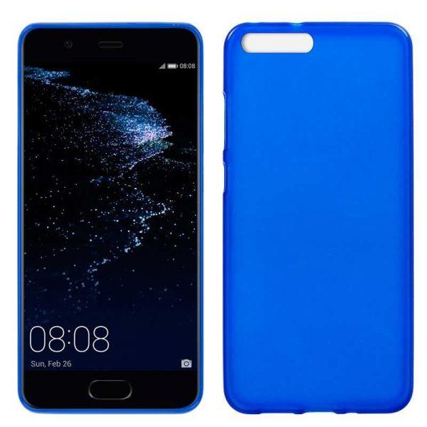 funda silicona huawei p10 plus azul