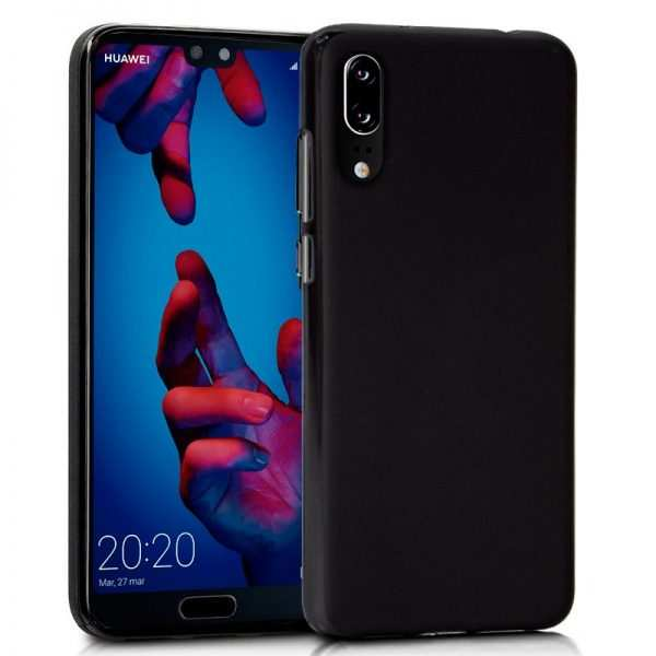 Funda Silicona Huawei P20 (Negro) 1