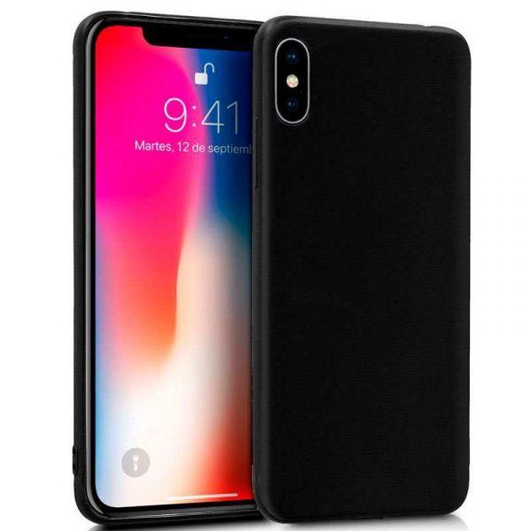 funda silicona iphone x iphone xs negro