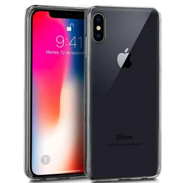 funda silicona iphone x iphone xs transparente