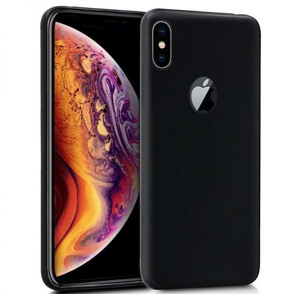 funda silicona iphone xs max negro