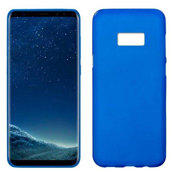 funda silicona samsung g955 galaxy s8 plus azul