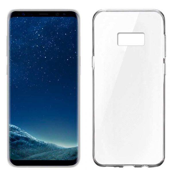 funda silicona samsung g955 galaxy s8 plus transparente