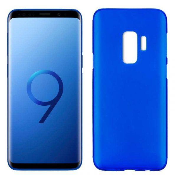 funda silicona samsung g965 galaxy s9 plus azul