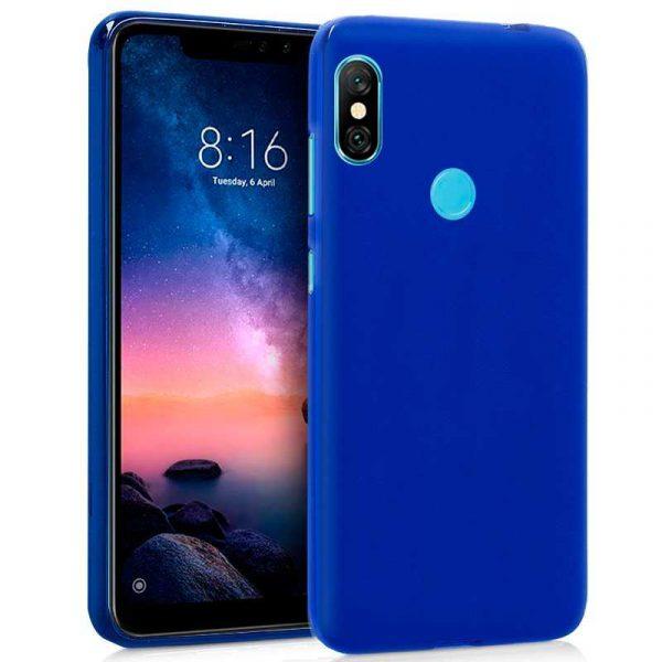 funda silicona xiaomi redmi note 6 pro azul