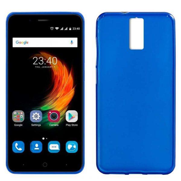 funda silicona zte blade a610 plus azul