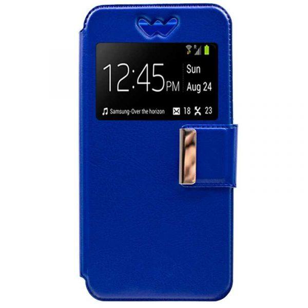 Funda Universal Flip Cover 5.4 - 5.7 pulg Liso Azul 2