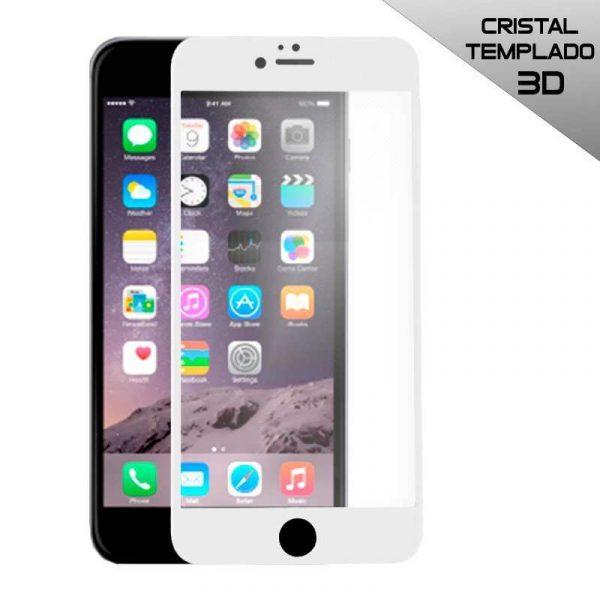 protector pantalla cristal templado iphone 6 6s full 3d blanco