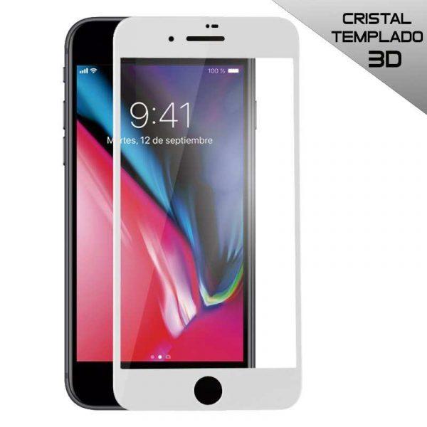 protector pantalla cristal templado iphone 7 iphone 8 full 3d blanco