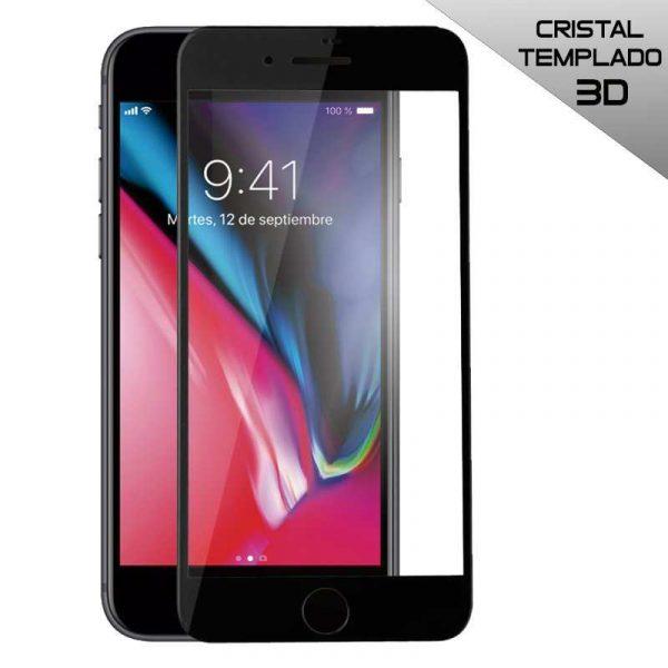 protector pantalla cristal templado iphone 7 plus iphone 8 plus full 3d negro
