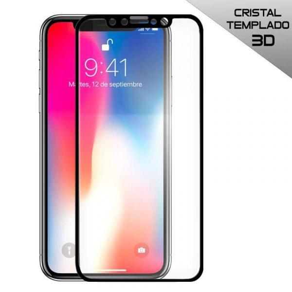 protector pantalla cristal templado iphone x iphone xs full 3d negro