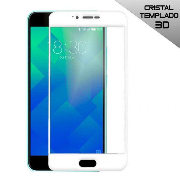 protector pantalla cristal templado meizu m5 3d blanco