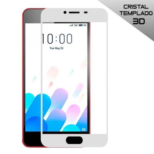 protector pantalla cristal templado meizu m5c 3d blanco