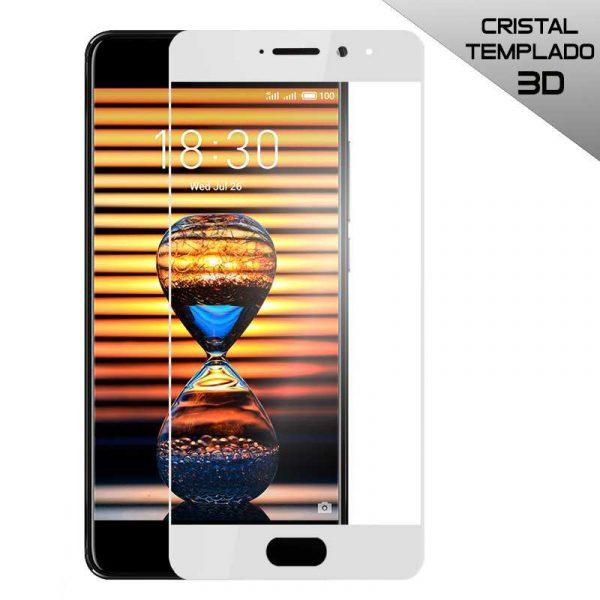 protector pantalla cristal templado meizu pro 7 3d blanco