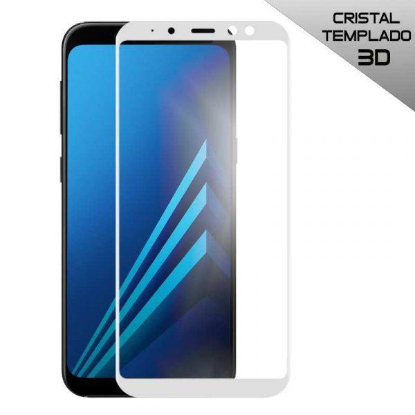 protector pantalla cristal templado samsung a530 galaxy a8 2018 full 3d blanco