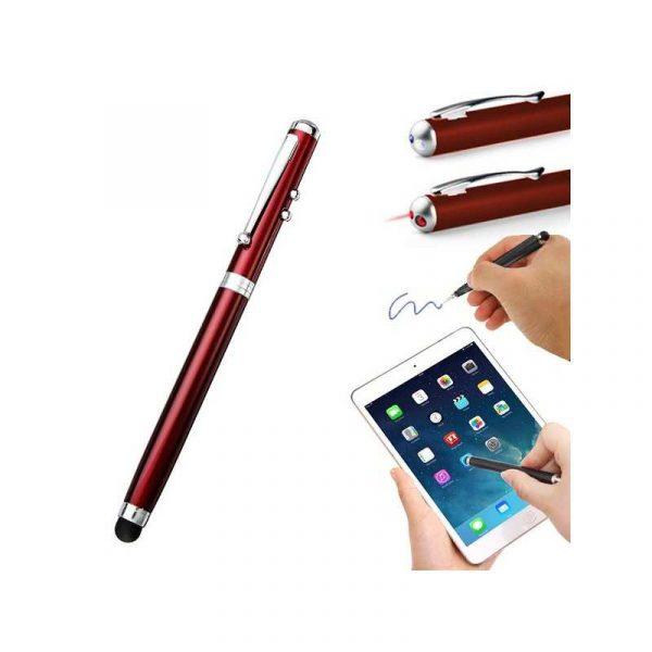 puntero stylus universal laser rojo