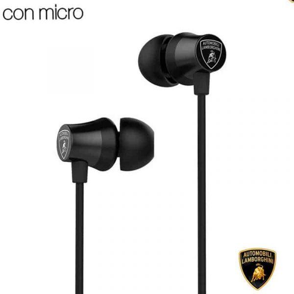 auriculares 35 mm stereo licencia oficial lamborghini