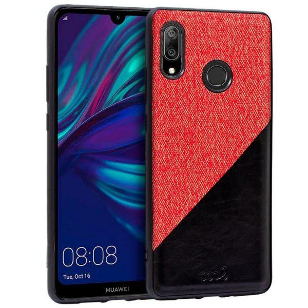 carcasa huawei y7 2019 bicolor rojo