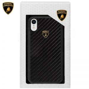 Carcasa iPhone XR Licencia Lamborghini Carbono Negro 3
