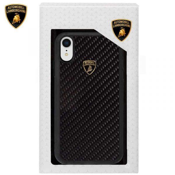 Carcasa iPhone XR Licencia Lamborghini Carbono Negro 2