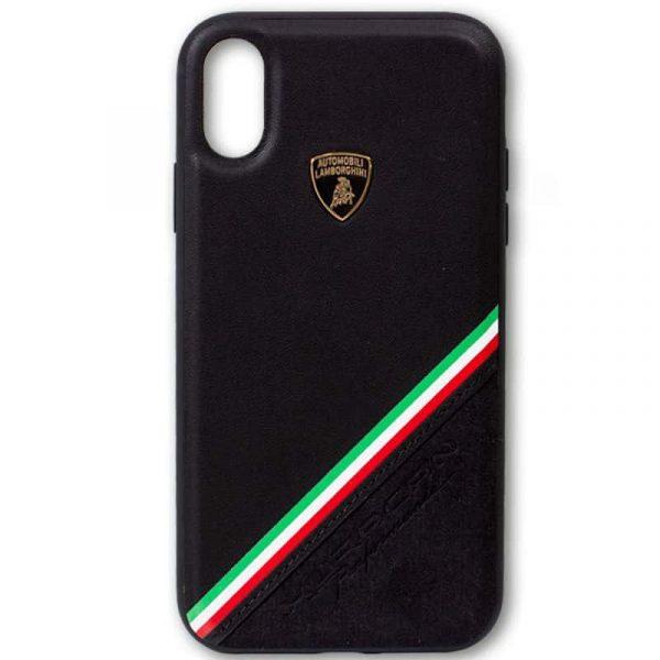 carcasa iphone xr licencia lamborghini piel negro3