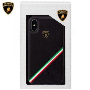 carcasa iphone xs max licencia lamborghini piel negro