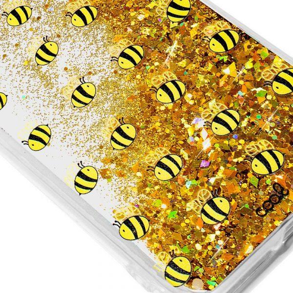 carcasa samsung g970 galaxy s10e glitter abejas2