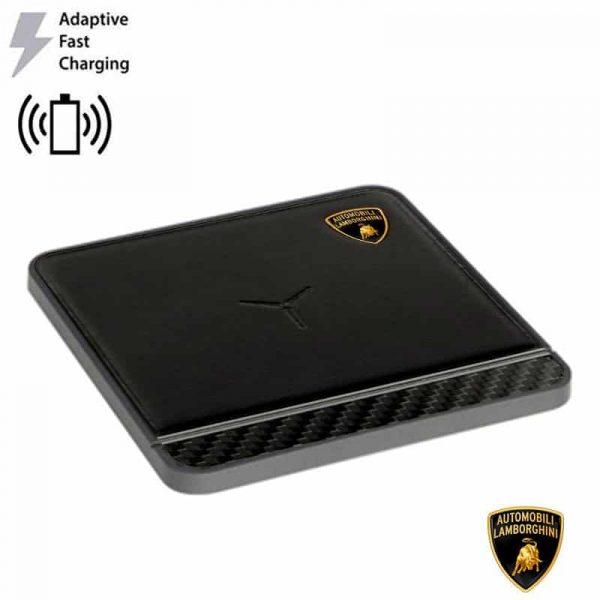 dock base cargador smartphones qi inalambrico universal licencia lamborghini carga rapida