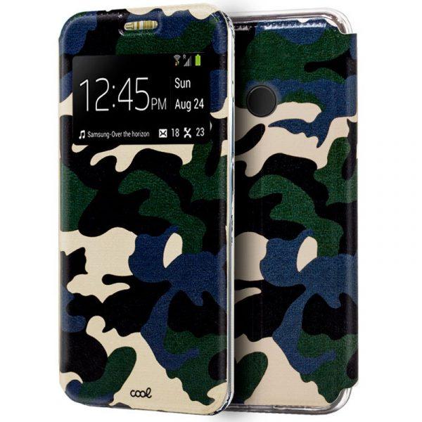 Funda Flip Cover Huawei P20 Lite Dibujos Militar 1