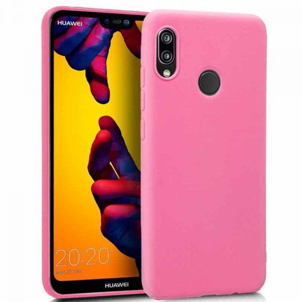 Funda Silicona Huawei P20 Lite (Rosa) 1