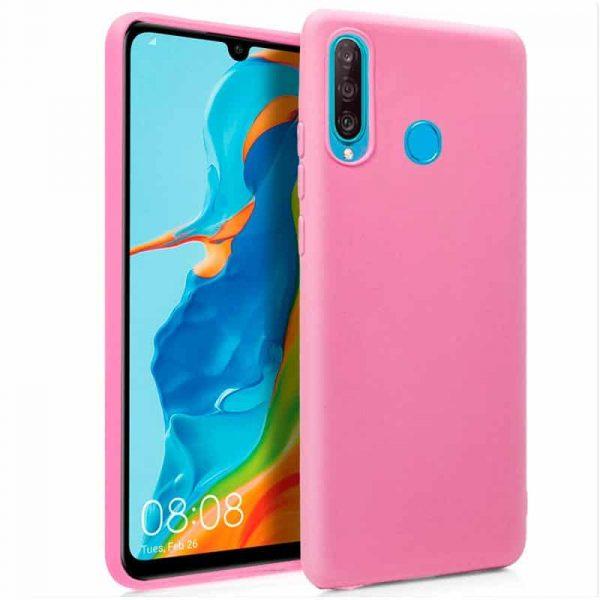 Funda Silicona Huawei P30 Lite (Rosa) 1