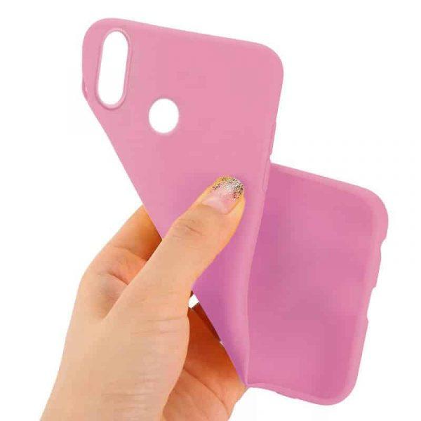 funda silicona huawei p30 lite rosa2